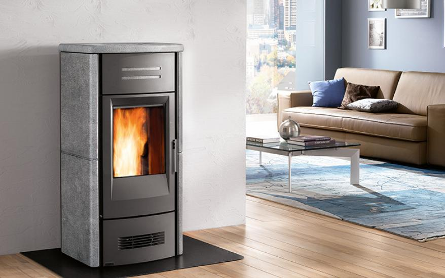 Pellet Stove P963 With Majolica Cladding